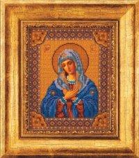 """В-153-Кроше """"Богородица Умиление"""" 20х25 см"""