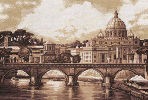 "1332ГМ-Panna ""Рим. Собор Святого Петра"" 41х27 см"