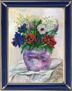 """139ЦВ-Вышивальная Мозаика """"Акварельные цветы. Анемоны"""" 19х25,5 см"""