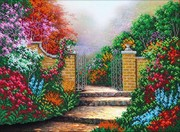 """Б-1447-Паутинка """"Дорожка в сад"""" 38х28 см"""