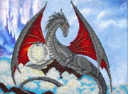 """Б-1456-Паутинка """"Дракон"""" 28х38 см"""