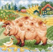 "1523-Риолис ""Хуторок. Свинка"" 20х20 см"