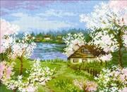 "1524-Риолис ""Яблони в цвету"" 24х18 см"