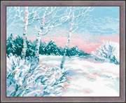 """1541-Риолис """"Зимнее утро"""" 35х60 см"""