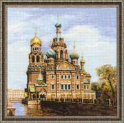 "1548-Риолис ""Санкт-Петербург. Храм Спаса-на-крови"" 40х40 см"
