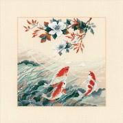 """1574-Риолис """"Танцующие рыбки"""" 40х40 см"""