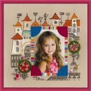 """1580-Риолис """"Панно для фото""""Замок принцессы"""" 30х30 см"""