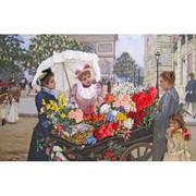 """165-100-Шелковая Гармония """"Цветы Парижа"""" 29х19см"""