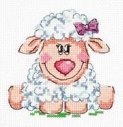 """18-83-Чудесная игла """"Малышка овечка"""" 10х10 см"""