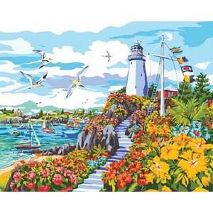 "PLD-22044 ""Рай на побережье (Маяк) 51х41 см"