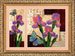 """257-Butterfly """"Ирисы"""" 26х10/26х26 см"""