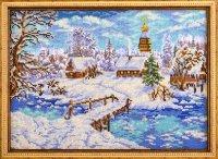 """В-240-Кроше """"Рождественская сказка"""" 27х38 см"""