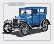 """33-E-Pinn """"Антикварные машины. Форд Т 1927"""" 29х23 см"""