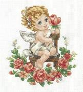 """35-18-Чудесная игла  """"День ангела!"""" 12х15 см"""