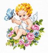 """35-19-Чудесная игла """"Ангел нашей любви!"""" 12х15 см"""