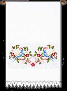 """350Р-Овен """"Райские птицы"""" (рушник) 160x40 см"""