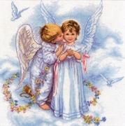 "35134-Dimensions ""Поцелуи ангелов"" 30х30 см"