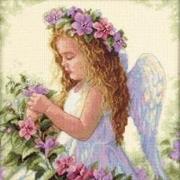 "35229-Dimensions "" Цветочный ангел"" 28х28 см"