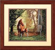 "35260-Dimensions ""Лошадь с жеребенком"" 36х30 см"