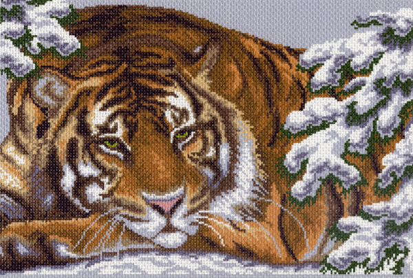 """0356-Матренин Посад """"Амурский тигр"""" 37х49 см"""