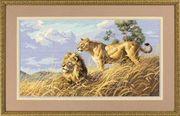 """03866-Dimensions """"Африканские львы"""" 46х25 см"""
