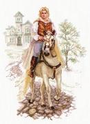 """4-17-Алиса """"Юноша на белом коне""""24х32 см"""
