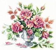 """40-71-Чудесная игла """"Розовая нежность"""" 30х27 см"""