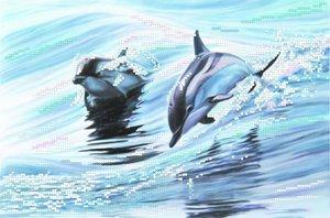 """4040-Матренин Посад """"Дельфины"""" 28х34 см"""