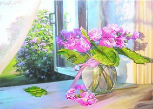 """4041-Матренин Посад """"Цветы на окне"""" 28х34 см"""