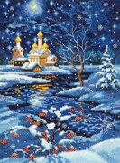 """45-07-Чудесная игла """"Рождество"""" 19х25 см"""