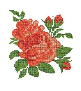 "4512-Матренин Посад ""Алые розы"" 28х34 см"