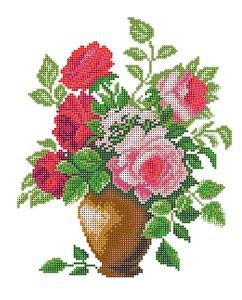"4514-Матренин Посад ""Розовый букет"" 28х34 см"
