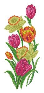 "4518-Матренин Посад ""Тюльпаны с нарциссами"" 37х49 см"