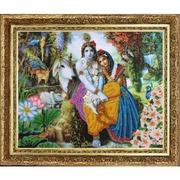 "473-Butterfly ""Кришна и Радха"" 32х26 см"