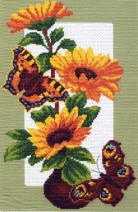 """473n-МП """"Подсолнухи и бабочки"""" 28х37 см"""