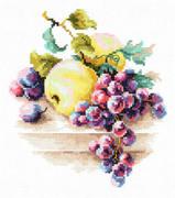 """50-05-Чудесная игла """"Виноград и яблоки"""" 16х18 см"""