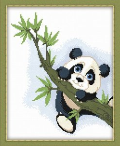 """521-Овен """"Панда на ветке"""" 20х25 см"""