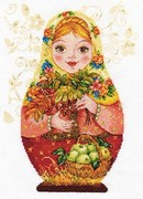 "6-06-Алиса  ""Матрёшки. Осенняя краса"" 19х26 см"