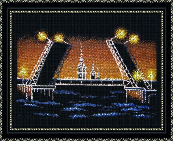 """451-Овен """"Ночной Петербург"""" 36х25 см"""