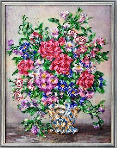 """В-252-Кроше """"Вальс цветов"""" 27х35 см"""