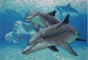 """06944-Dimensions """"Глубоководные дельфины"""" 18х13 см"""