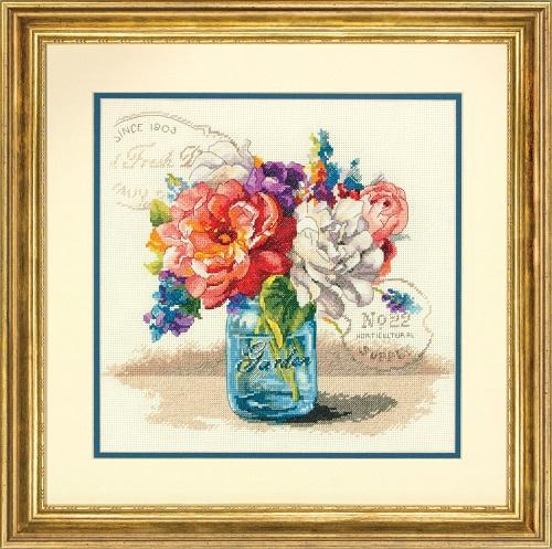 "35334-70-Dimensions ""Букет садовых цветов"" 46х36 см"