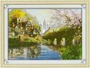 """7437-TBYst """"Дом у моста"""" (мозаика) 85х60 см"""