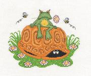 """8-072-Кларт """"Лягушонок и черепаха"""" 18х16 см"""