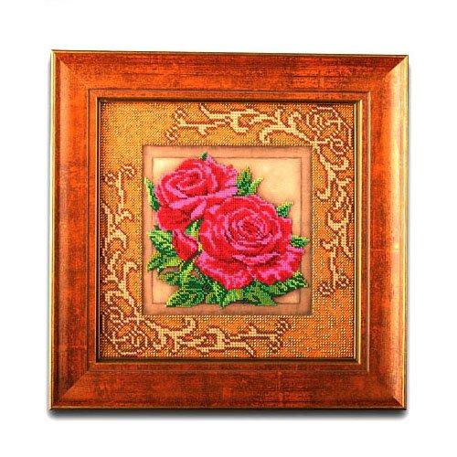 """В-411-ЮК """"Роскошные розы"""" 20,5х20,5 см"""