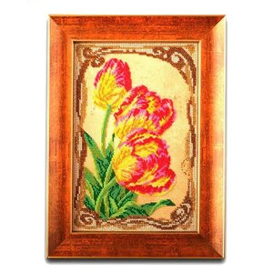 "В-415-ЮК ""Бархатные тюльпаны"" 17х26 см"