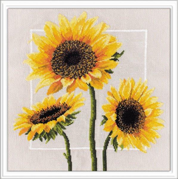 """562-Овен """"Цветы солнца"""" 34х34 см"""