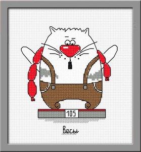 "843-Овен ""Кошачий гороскоп. Весы"" 11х12 см"