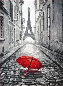 """868-Овен """"В Париже дождь"""" 20х29 см"""