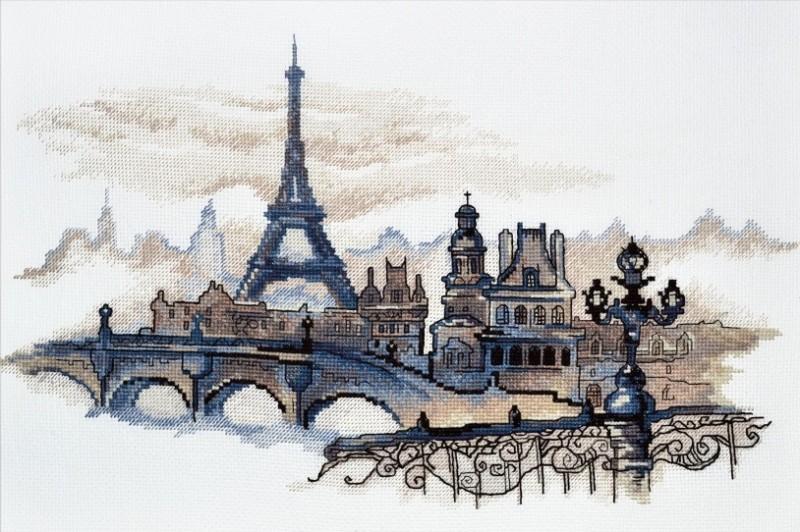 """869-Овен """"Силуэты Парижа"""" 40х24см"""